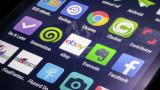 Bangkok Thailand -  January 10, 2015: Application and social media icons on smart phone screen