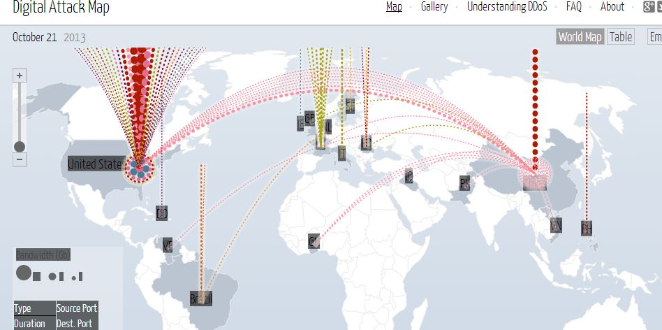 Digital attack map new data visualization ddos tool from google mobilesecuritythreat mobilesecuritythreat source digital attack map gumiabroncs Choice Image
